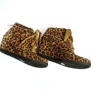 Forever Cheetah Print Wedge Boots